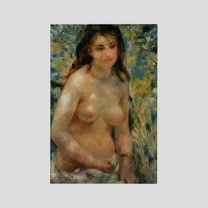 Renoir - Nude in the Sunlight Rectangle Magnet