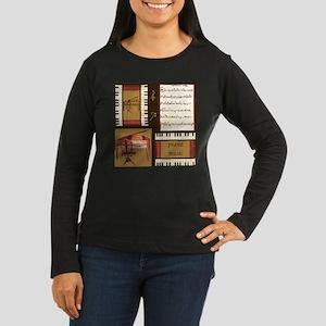 Piano Keys Music Song Clef Long Sleeve T-Shirt