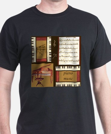 Piano Keys Music Song Clef T-Shirt