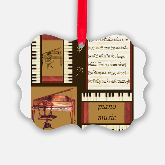 Piano Keys Music Song Clef Ornament