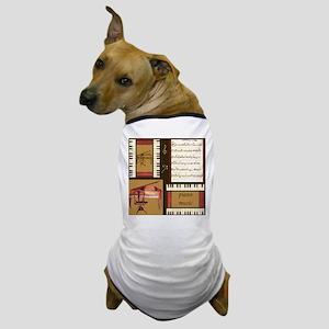 Piano Keys Music Song Clef Dog T-Shirt