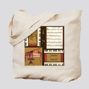 Piano Keys Music Song Clef Tote Bag