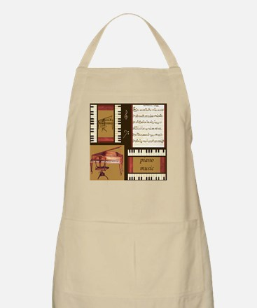 Piano Keys Music Song Clef Apron
