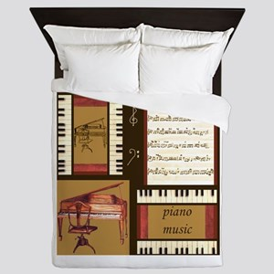 Piano Keys Music Song Clef Queen Duvet