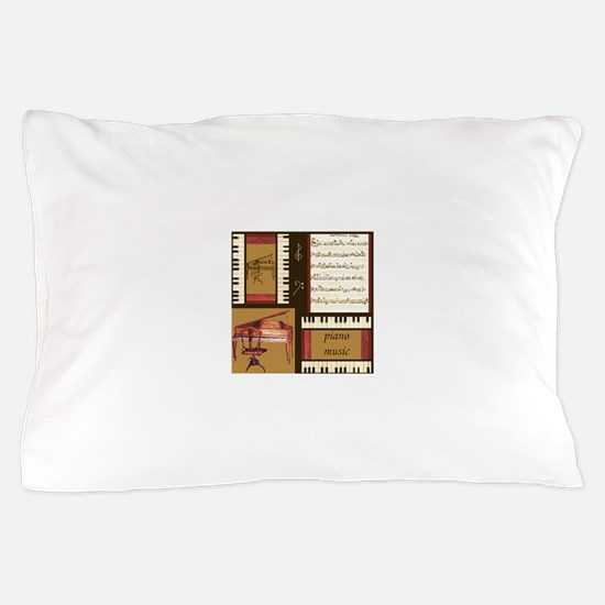 Piano Keys Music Song Clef Pillow Case
