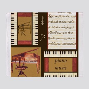 Piano Keys Music Song Clef Throw Blanket