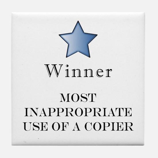 The Photocopier Award Tile Coaster