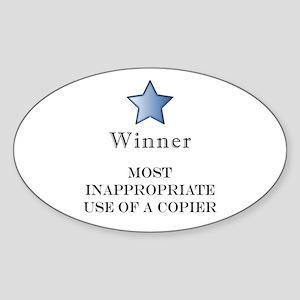 The Photocopier Award Oval Sticker