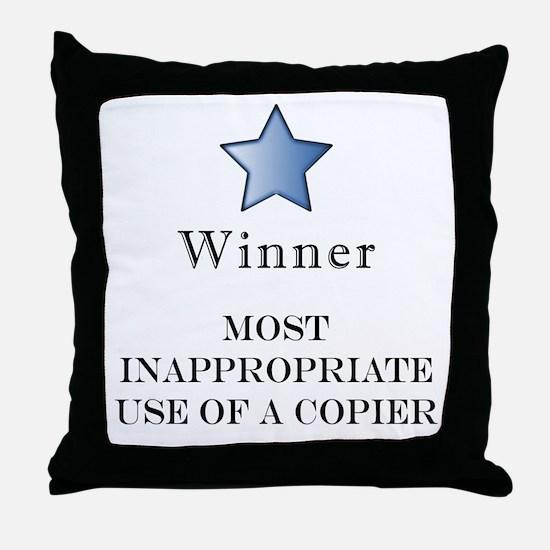 The Photocopier Award Throw Pillow