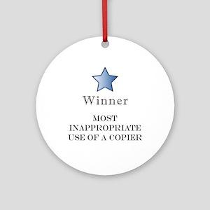 The Photocopier Award Ornament (Round)