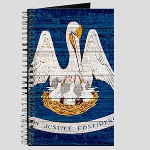 Louisiana Wood Pallet Flag Journal
