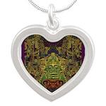 Mixtec Oaxaca Silver Heart Necklace