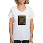 Mixtec Oaxaca Women's V-Neck T-Shirt