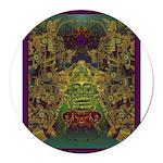 Mixtec Oaxaca Round Car Magnet