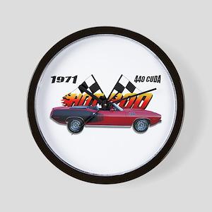 Hot Rod - 1971 Cuda Wall Clock