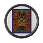 Monte Alban Gold Large Wall Clock