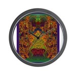 Monte Alban Gold Wall Clock