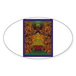 Monte Alban Gold Sticker (Oval 50 pk)