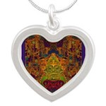 Monte Alban Gold Silver Heart Necklace