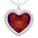 Oaxaca Mixteca Silver Heart Necklace