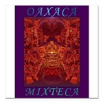 Oaxaca Mixteca Square Car Magnet 3