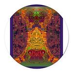 Zapotec Oaxaca Round Car Magnet