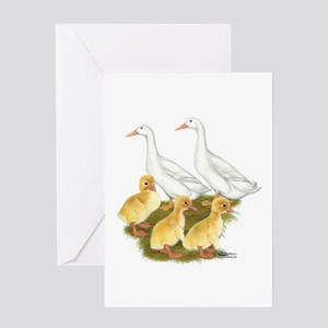 White Duck Family Greeting Card