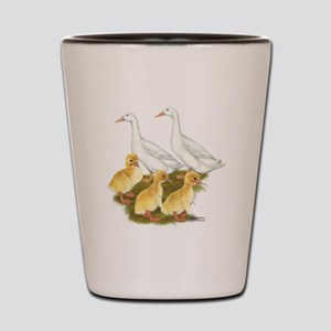 White Duck Family Shot Glass