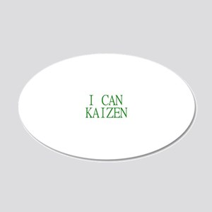 ICanKaizen 20x12 Oval Wall Decal