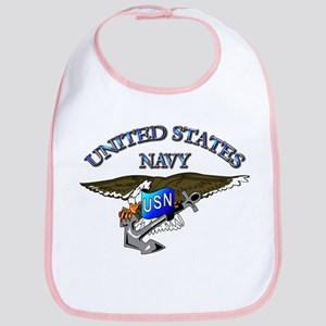 Navy - Eagle with Anchor Bib