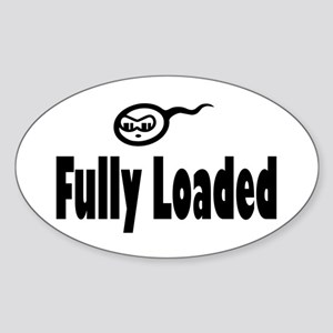 Fully Loaded Oval Sticker