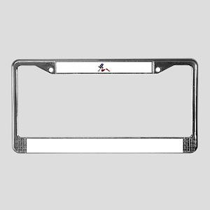 USA Trucker Girl License Plate Frame