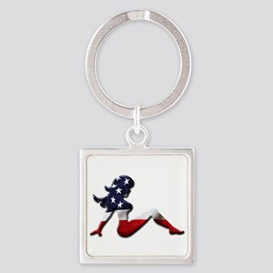 USA Trucker Girl Keychains
