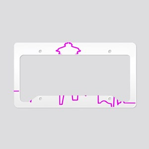 Seattle Heartbeat Fuschia License Plate Holder