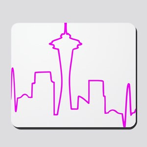 Seattle Heartbeat Fuschia Mousepad