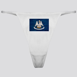 Louisiana Wood Pallet Flag Classic Thong