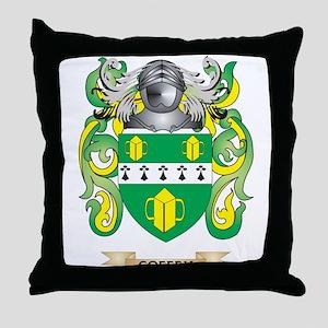 Coffey Coat of Arms Throw Pillow