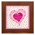 Frilly Heart Framed Tile