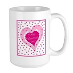Frilly Heart Large Mug