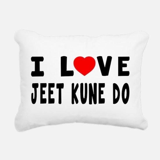 I Love Jeet Kune Do Rectangular Canvas Pillow