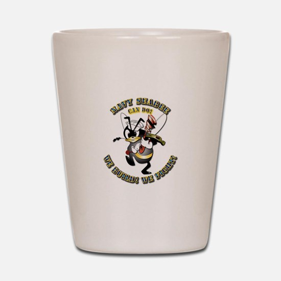Navy SeaBee - Construction Shot Glass
