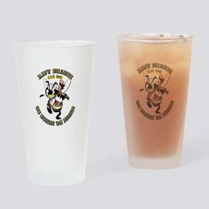 Navy SeaBee - Construction Drinking Glass