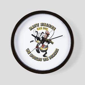 Navy SeaBee - Construction Wall Clock