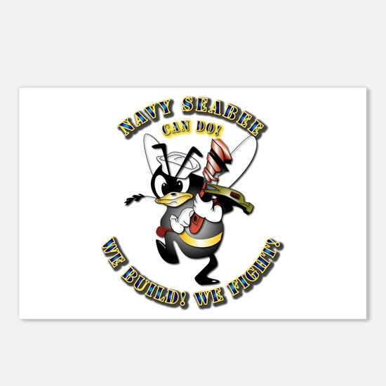 Navy SeaBee - Construction Postcards (Package of 8