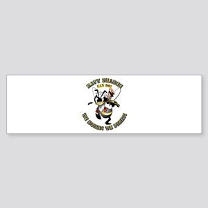 Navy SeaBee - Construction Sticker (Bumper)