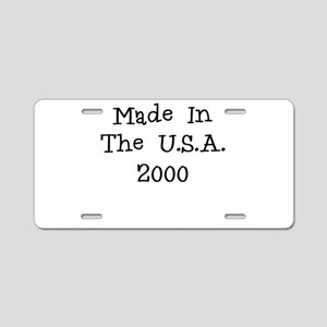 Made in the usa 2000 Aluminum License Plate