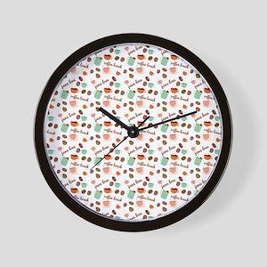 Java Love Pastel Wall Clock