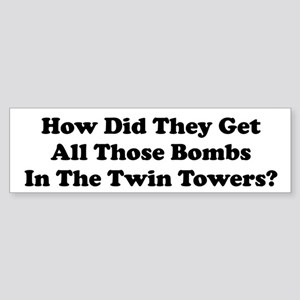 WTC Bombs Bumper Sticker