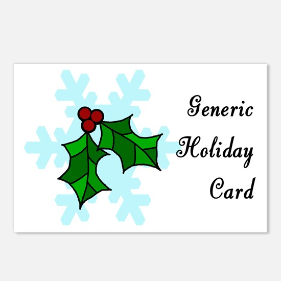 Generic winter holiday Postcards (Package of 8)