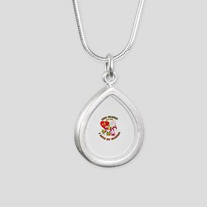 Navy SeaBee - Mrs SeaBee Silver Teardrop Necklace